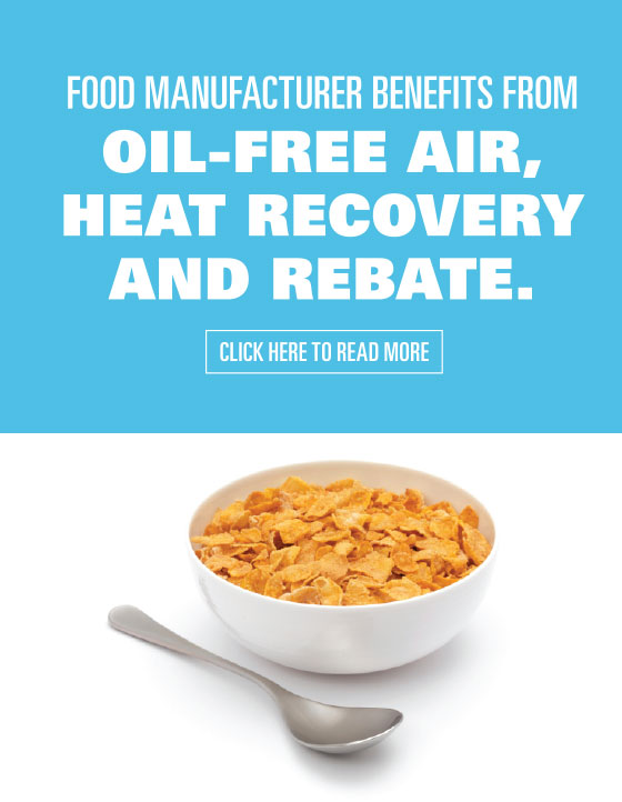 Atlas Copco Oil Free Food Manufacturing Cereal