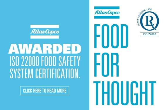 Atlas Copco ISO 22000 Food Safety