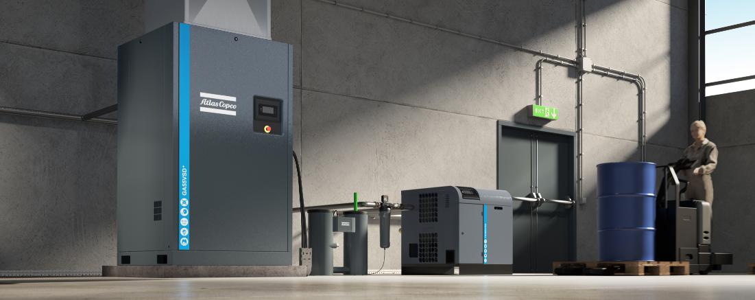 Image of an Atlas Copco refrigerant dryer