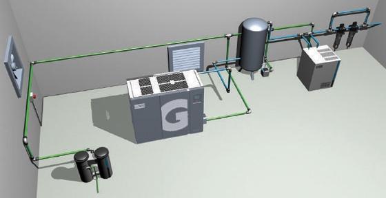 Air Compressor Ventilation : Designing an efficient compressor room ventilation